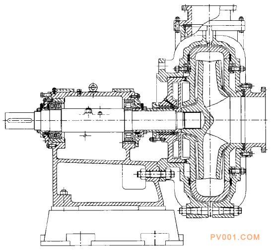 渣浆泵材料及结构图-中国泵阀第一网