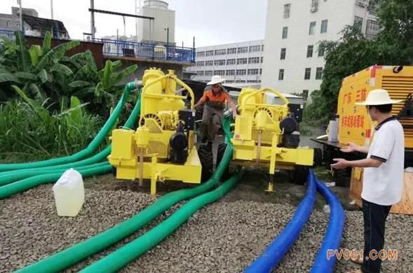 阿特拉斯・科普柯排水泵参与汕头内涝排水抢险作业
