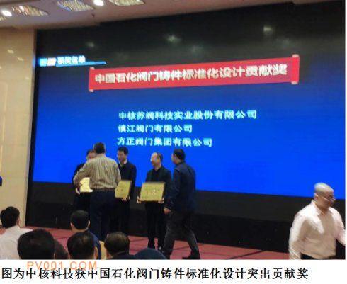 中国石化阀门铸件标准化设计贡献奖