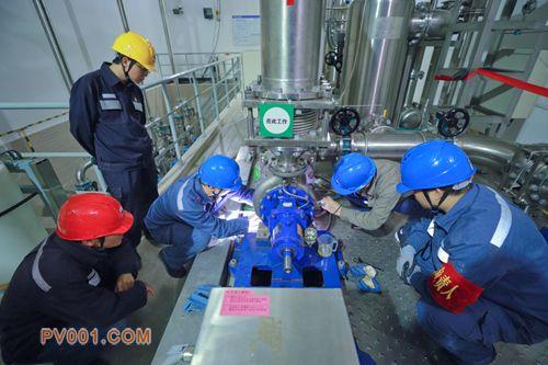 超高压曲靖局开展阀冷系统主泵在线检修