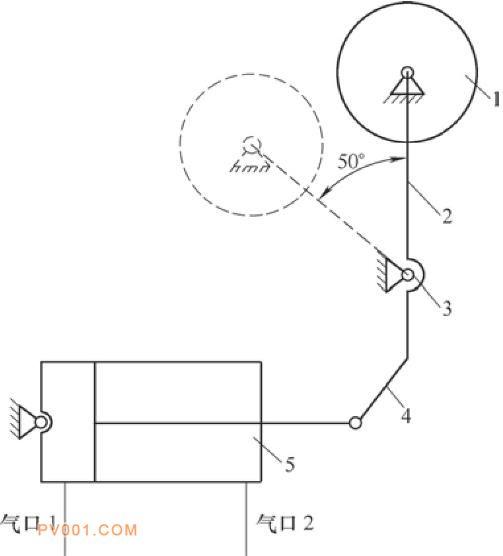 气动旋转摆式陶瓷阀工作原理简图