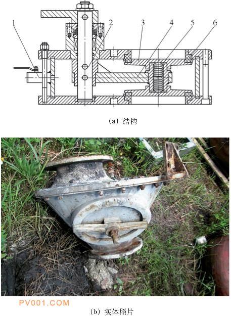 气动陶瓷摆式阀结构改进 (带人孔)