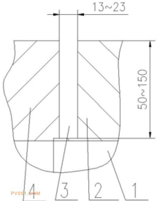 传统的窄间隙焊接坡口