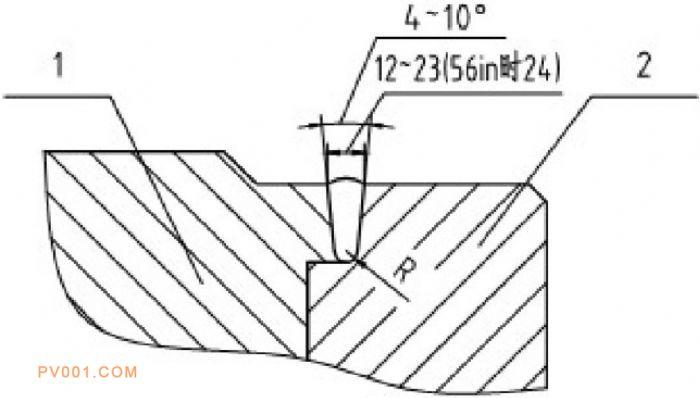 整体式双向密封的球阀阀座结构示意图