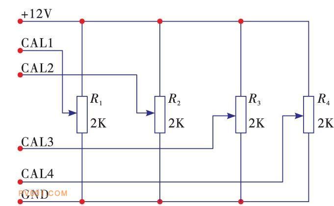 推靠器电位计原理图