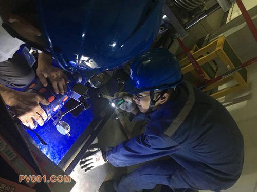 南网超高压曲靖局完成阀冷系统主泵检修