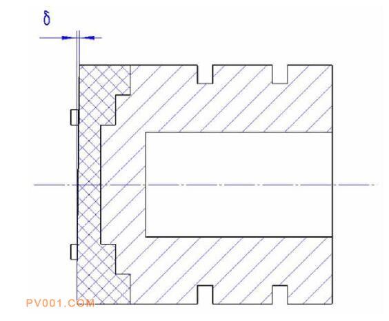 图2 阀芯倾斜值δ-中国泵阀制造网