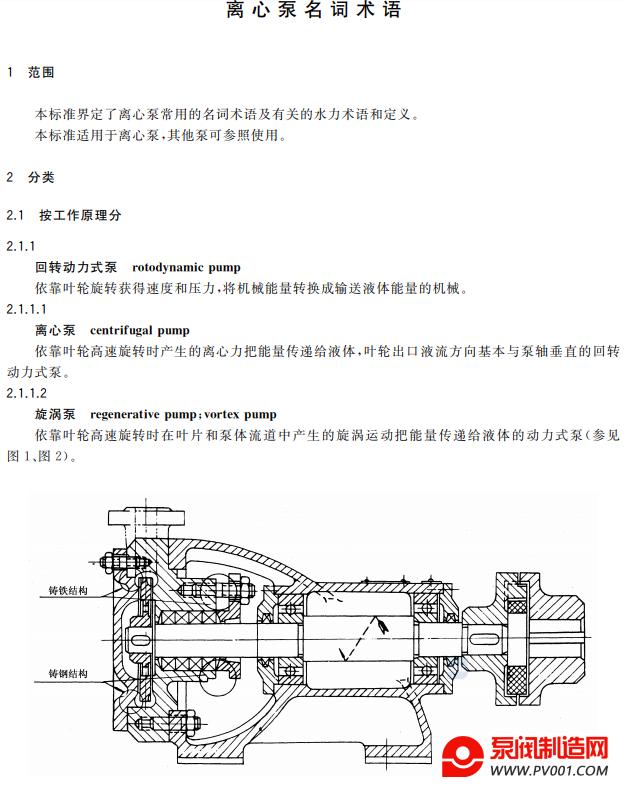 GB�MT 7021-2019 离心泵名词术语-泵阀制造网