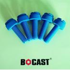 彩色尼龙开槽滚花塑料螺钉 PP/PA/PVC