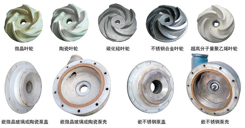 UTB泵内镶衬的材质实物图