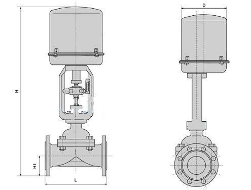 ZDGT耐腐蚀电动隔膜调节阀结构图