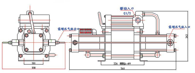 东莞赛森特高压氮气增压泵工作原理图
