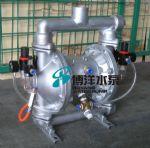 供应QBYF型不锈钢,铝合金气动粉体输送隔膜泵