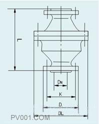 阻爆燃型管道阻火器尺寸�D
