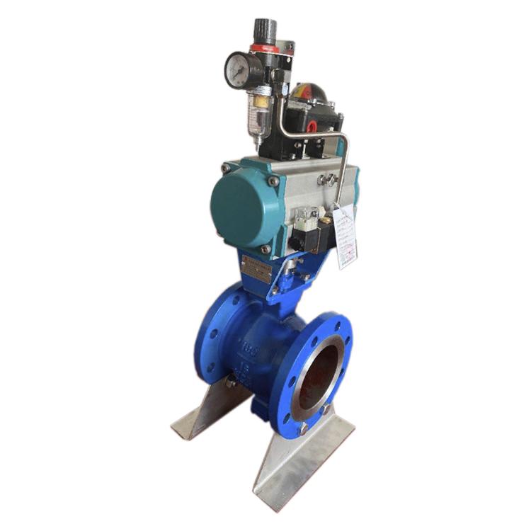 供应压滤机专用气动V型球阀DN150