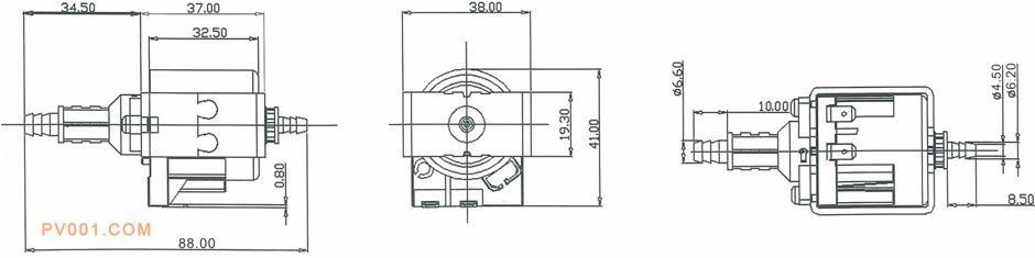 电磁泵烟机/抽油烟机产品尺寸