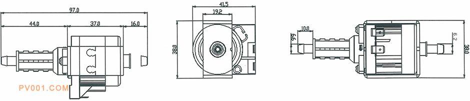 电磁泵舞台烟雾机产品尺寸