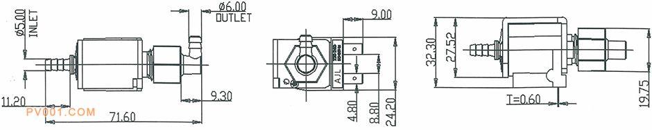 电磁泵蒸汽地拖产品尺寸