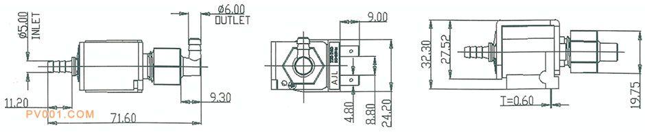 电磁泵电饭煲产品尺寸