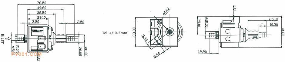电磁泵烤箱/微波炉产品尺寸
