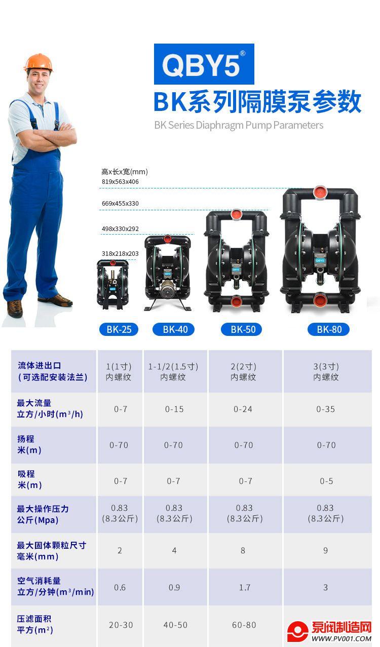 BK增强隔膜泵-参数0006
