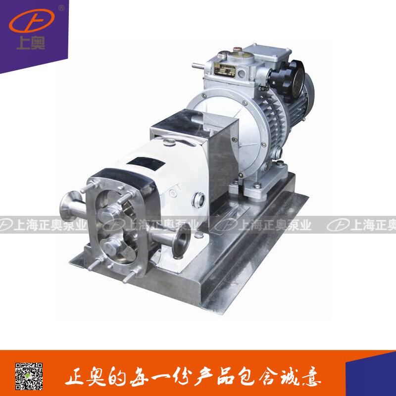 供应正奥泵业RP型不锈钢高粘度转子泵果汁酸奶泵